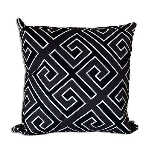GREEK MONOCHROME GEOMETRIC CUSHION