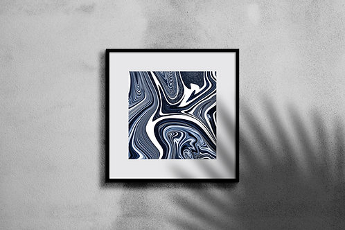 MARBLED WAVE WALL ART