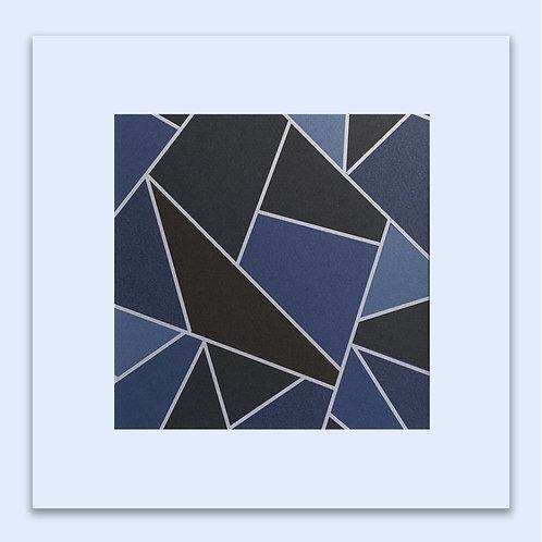 CAMBRIDGE BLUE GEOMETRIC WALL ART