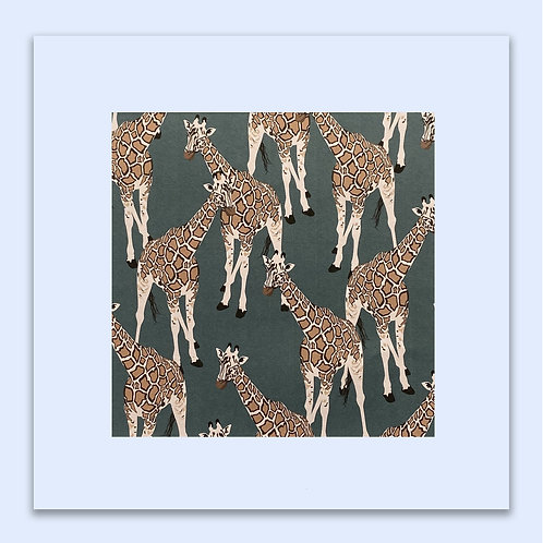 GIRAFFE PATTERN WALL ART