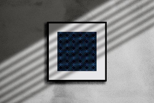 ELECTRIC BLUE GEOMETRIC WALL ART