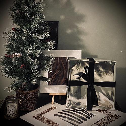 CHRISTMAS GIFT SET - SET OF 4 PRINTS ( ANIMAL PRINT )