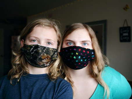 Making face masks to protect our community from COVID-19