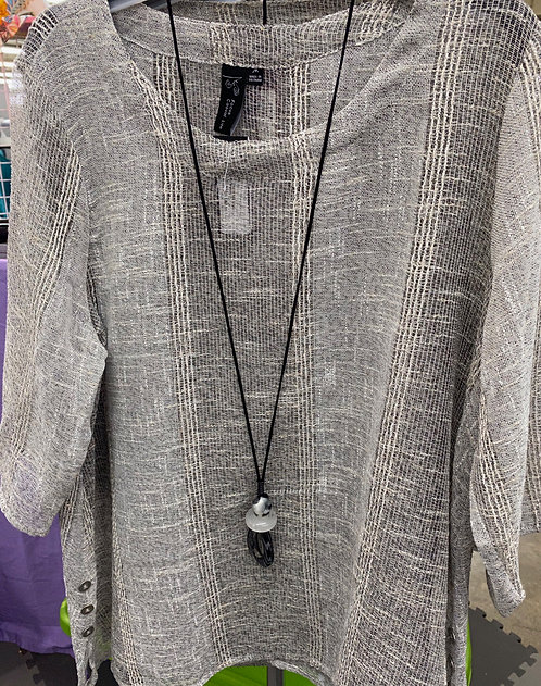 3/4 Sleeve Mesh Tunic Layering Piece