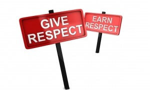 You can Demand Courtesy, but you have to Earn Respect