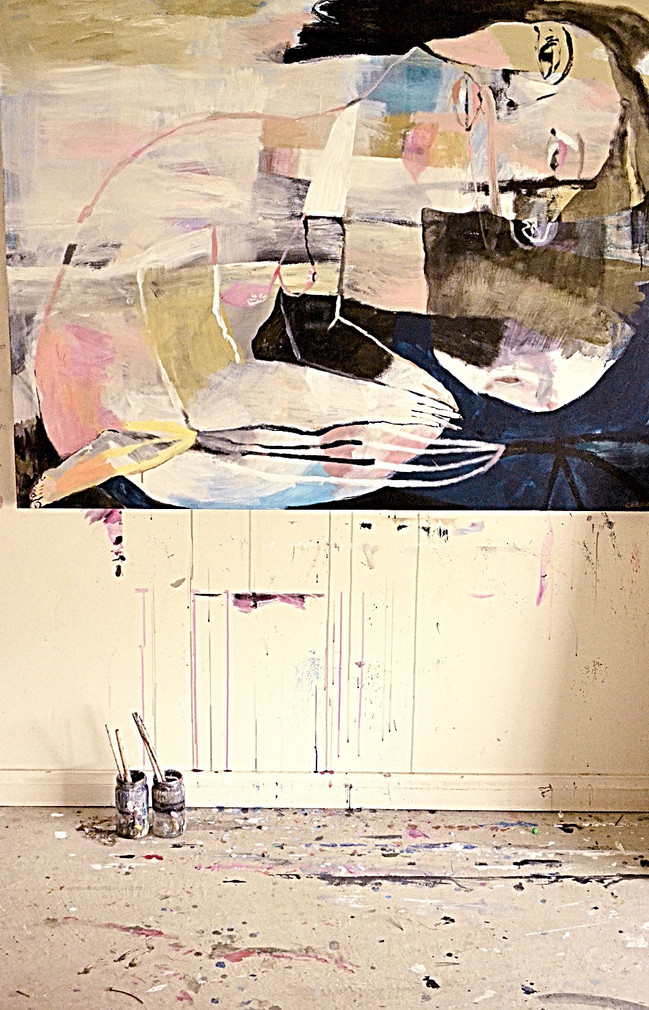 The folded bird and the twisted sea - 150x120cm