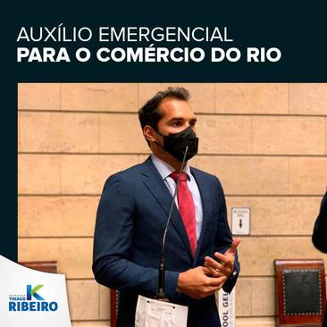 Empenho para aprovar o auxílio emergencial ao comércio do Rio
