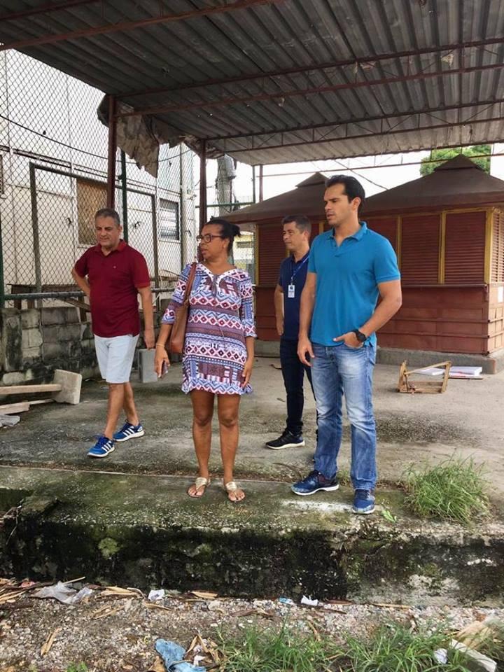Com moradores da Comunidade Parque Oswaldo Cruz