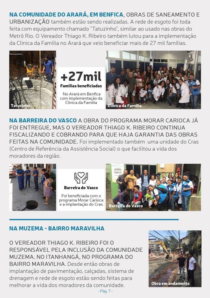 Principais conquistas do  Vereador Thiago K Ribeiro