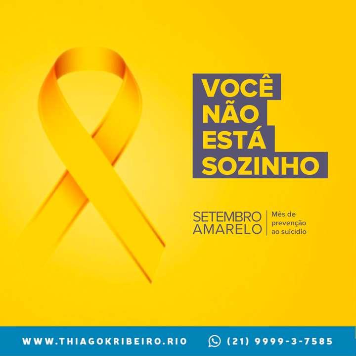 Setembro Amarelo - Dia Mundial da Prevenção ao Suicídio