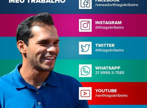 Acompanhe o trabalho do Vereador Thiago K. Ribeiro