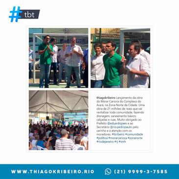 #TBT: lançamento das obras do Programa Morar Carioca do Complexo do Arará