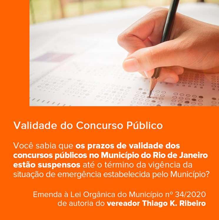 Suspenso os prazos dos concursos no município do Rio de Janeiro