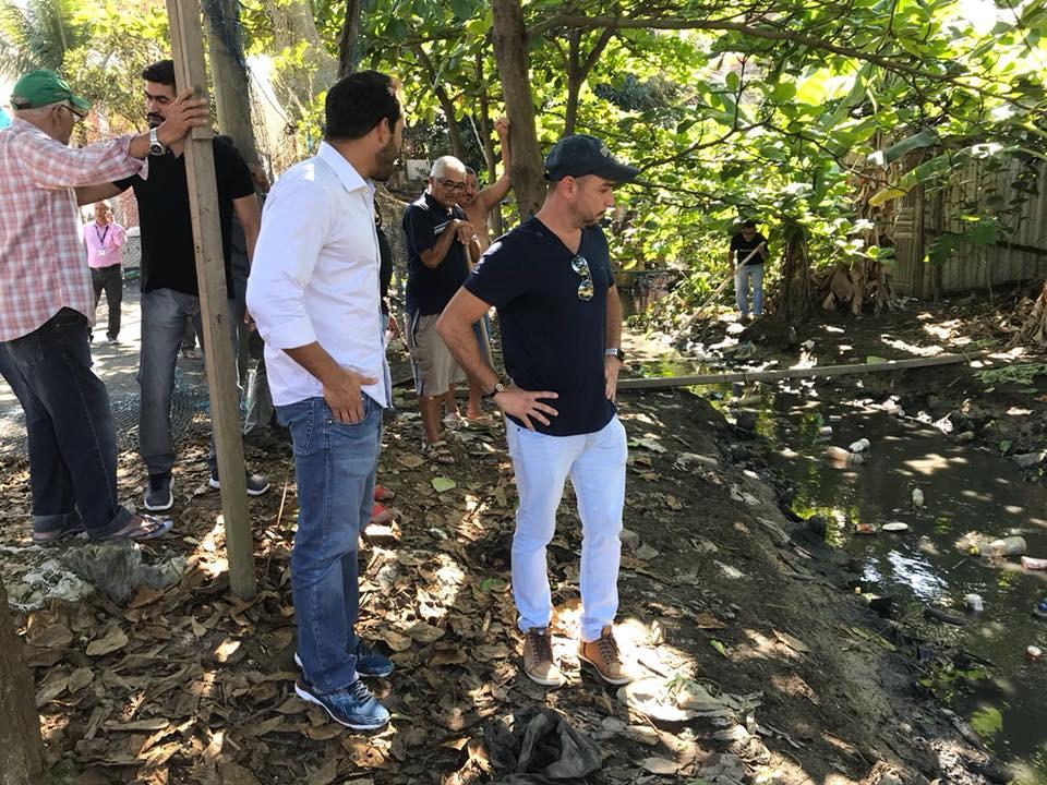 Vereador Thiago K. Ribeiro acompanha as obras de dragagem dos Rios