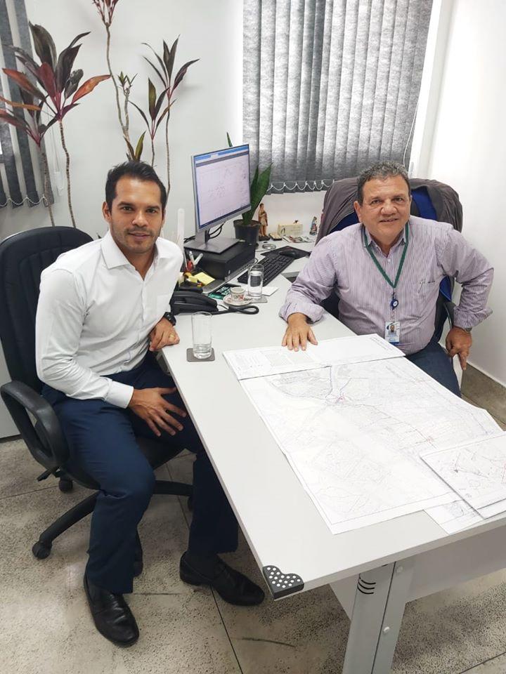 Reunião com o diretor da Cedae, Guilherme Campos
