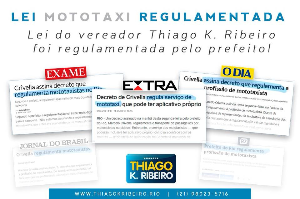 Mototaxista lei regulamentada