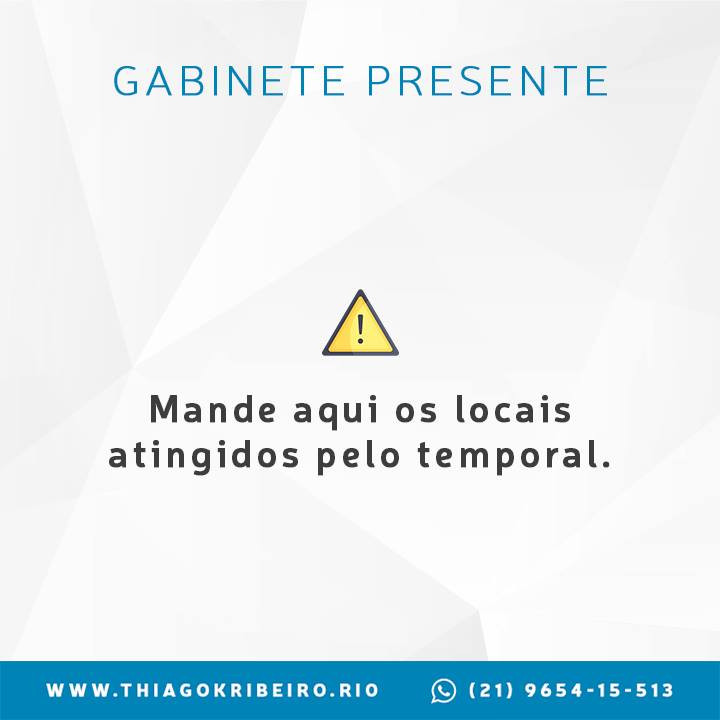 Thiago K. Ribeiro: Gabinete Presente