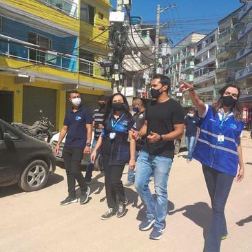 Vereador Thiago K. Ribeiro participa de vistoria na Muzema