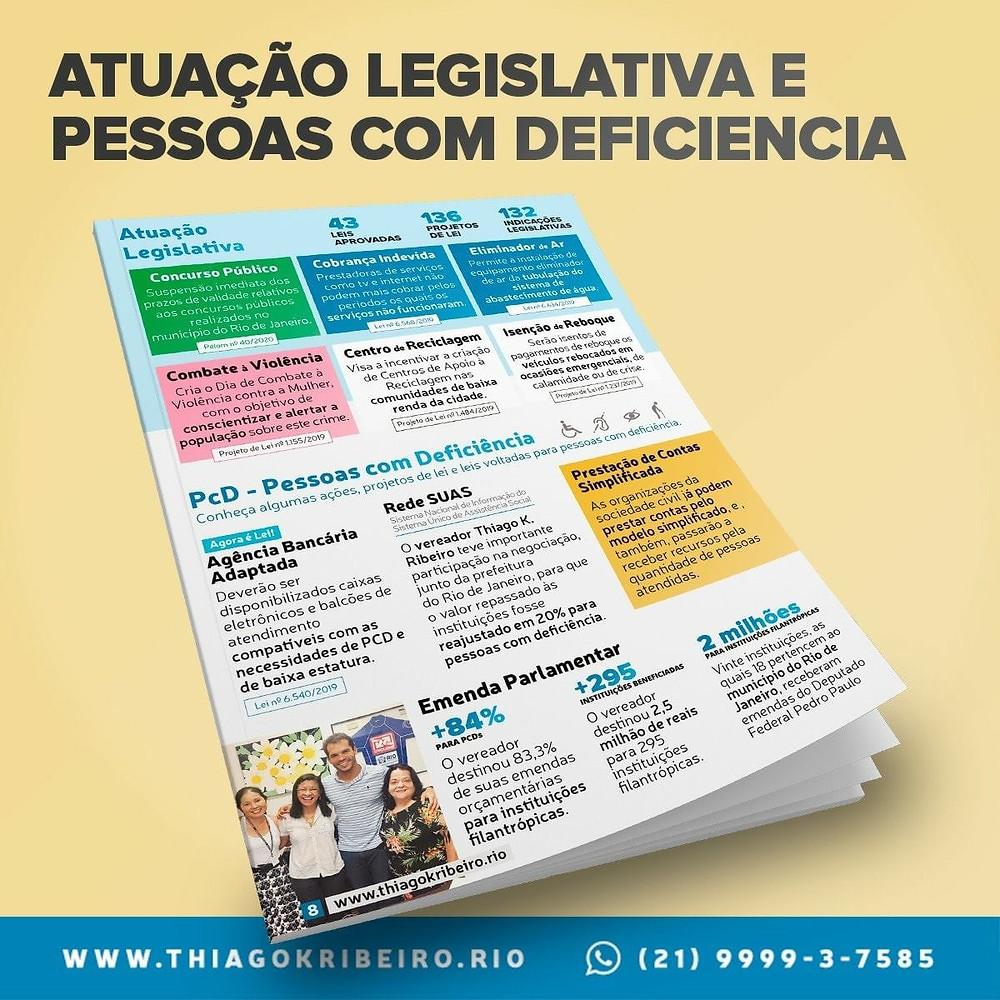 Atuação legislativa e defesa dos diretos das Pessoas com Deficiências (PCDs)