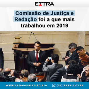 Comissão de Justiça e redação foi a que mais trabalhou em 2019