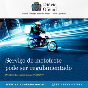 Thiago K. Ribeiro: Serviço de motofrete pode ser regulamentado