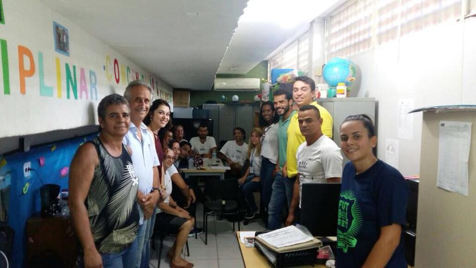 visita a primeira Vila Olímpica feita pela Prefeitura