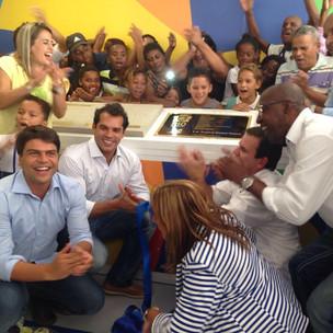 Inauguração do complexo de 8 escolas em Nova Sepetiba