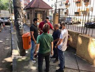 Vereador Thiago K. Ribeiro com moradores da Taquara e Camorim