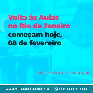 Volta às aulas no Rio de Janeiro começam hoje, 8 de fevereiro