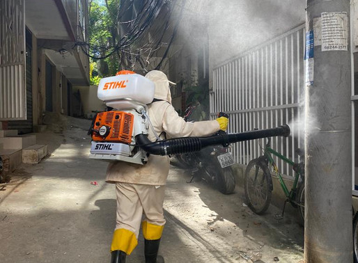Trabalho de higienização e pulverização em diversas comunidades do Itanhangá