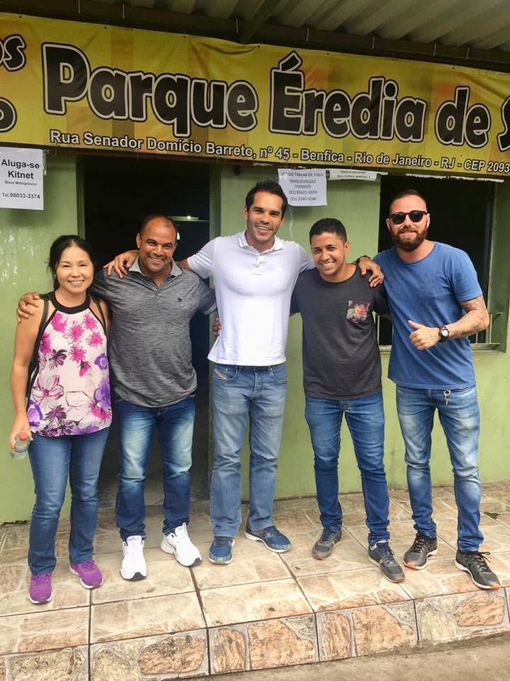 Com os presidentes das Associações de Moradores do Arará e da Barreira do Vasco