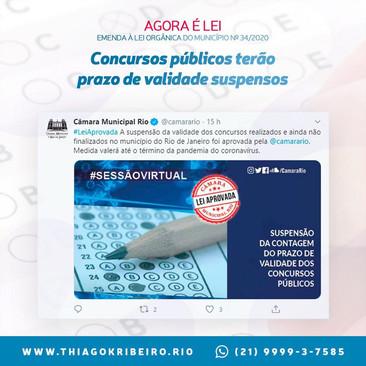 Já está valendo a lei que suspende os prazos de validade dos concursos públicos no Rio de Janeiro