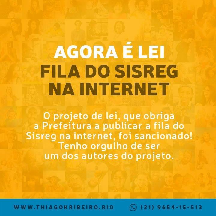 Agora é lei: Fila do SISREG na internet