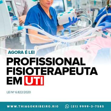 Agora é Lei: profissional de fisioterapia nas unidades de terapia intensiva