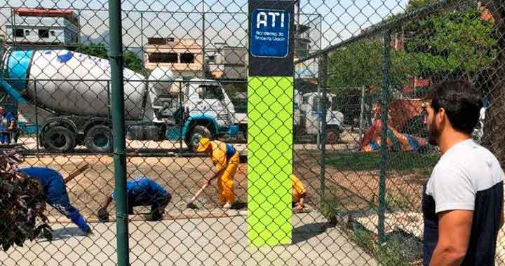 Nova base da Academia da terceira idade na Praça H, no Arará