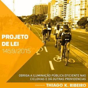 Instalação de iluminação pública eficiente em todos os trechos de ciclovias no Rio