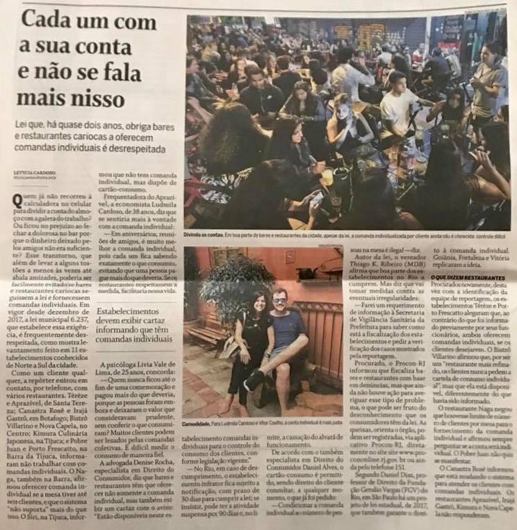 Comanda individual Jornal O Globo