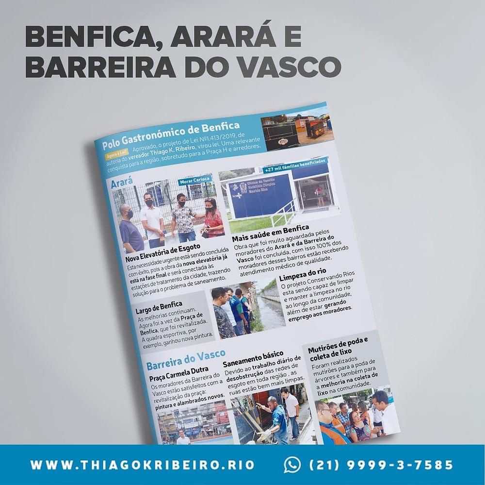 Benfica, Arará e Barreira do Vasco: Prestação de contas