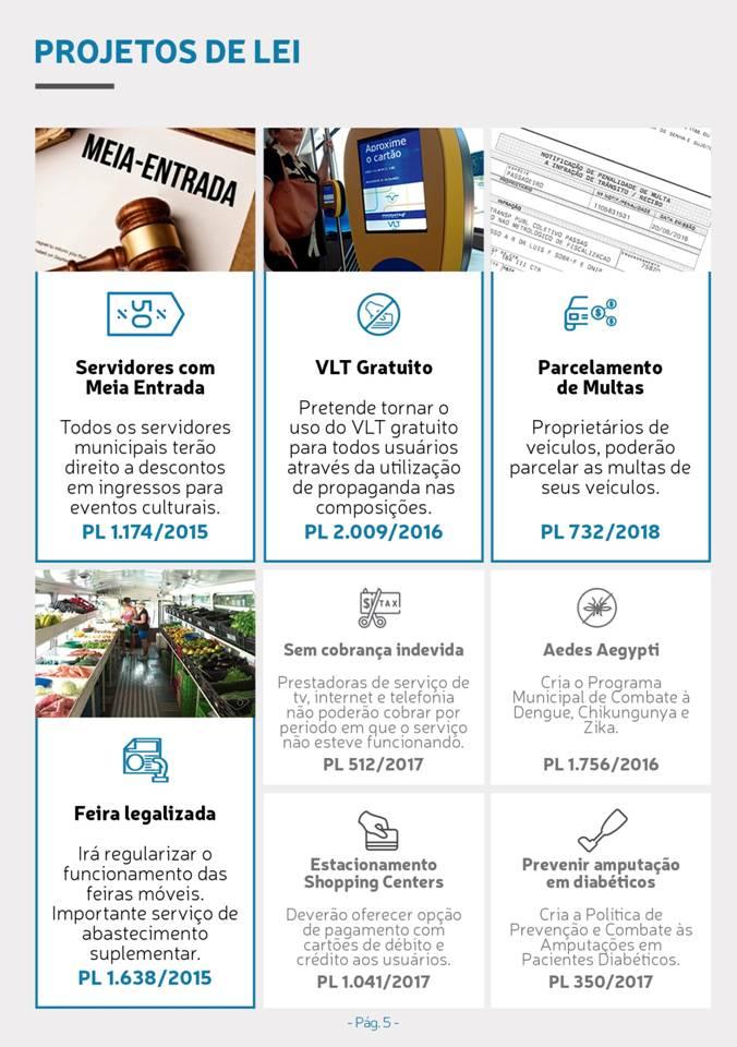 Principais projetos de lei do  Vereador Thiago K Ribeiro