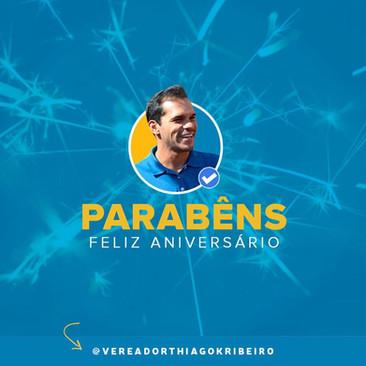 Vereador Thiago K. Ribeiro completa 38 anos