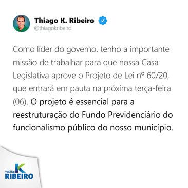 Projeto essencial para a reestruturação do Fundo Previdenciário do funcionalismo público