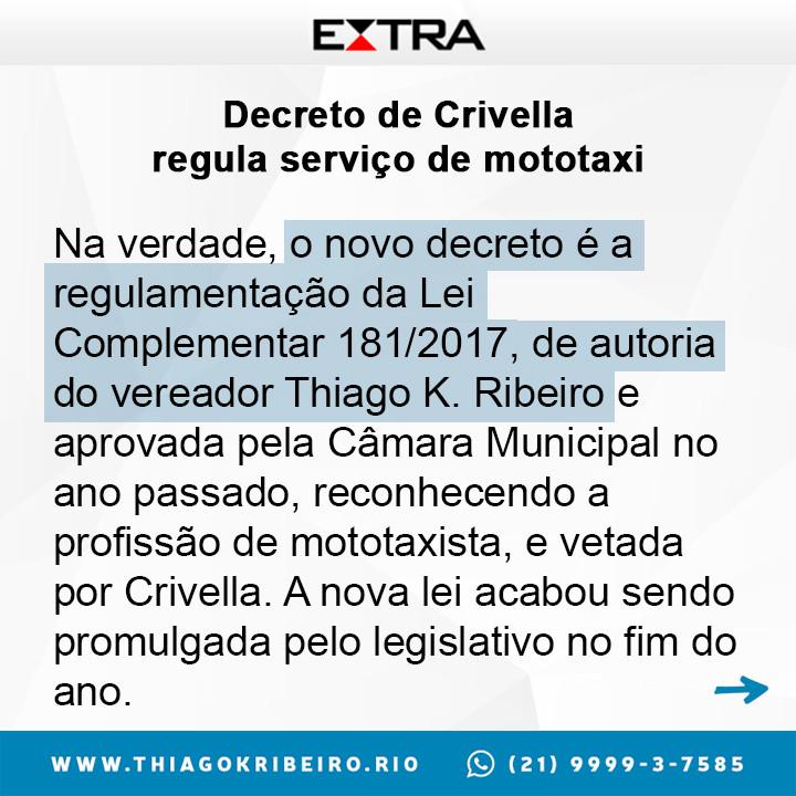 Profissão do Mototaxista é regulamentada