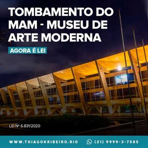 Agora é Lei: tombamento do Museu de Arte Moderna do Rio de Janeiro - MAM