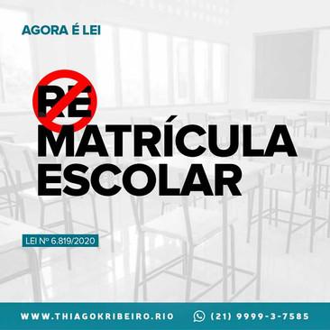 Agora é Lei: cobrança por rematrícula escolar está proibida no Rio de Janeiro