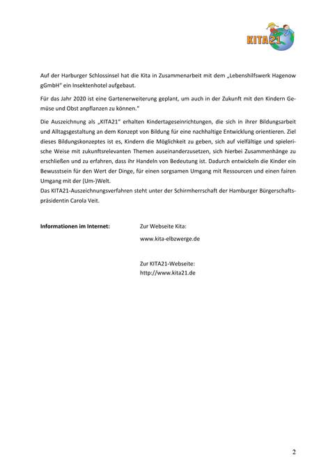 Pressemitteilung KITA21