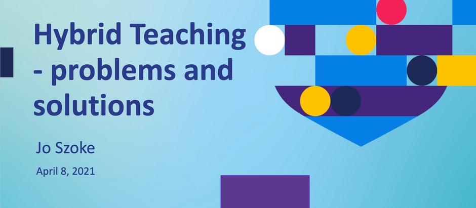 Hybrid Teaching (BALEAP talk with CUP)