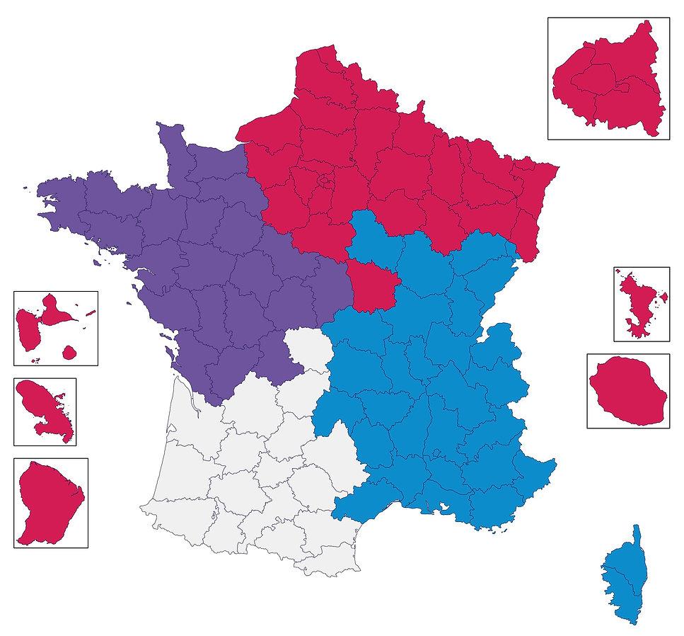 Contacts par région
