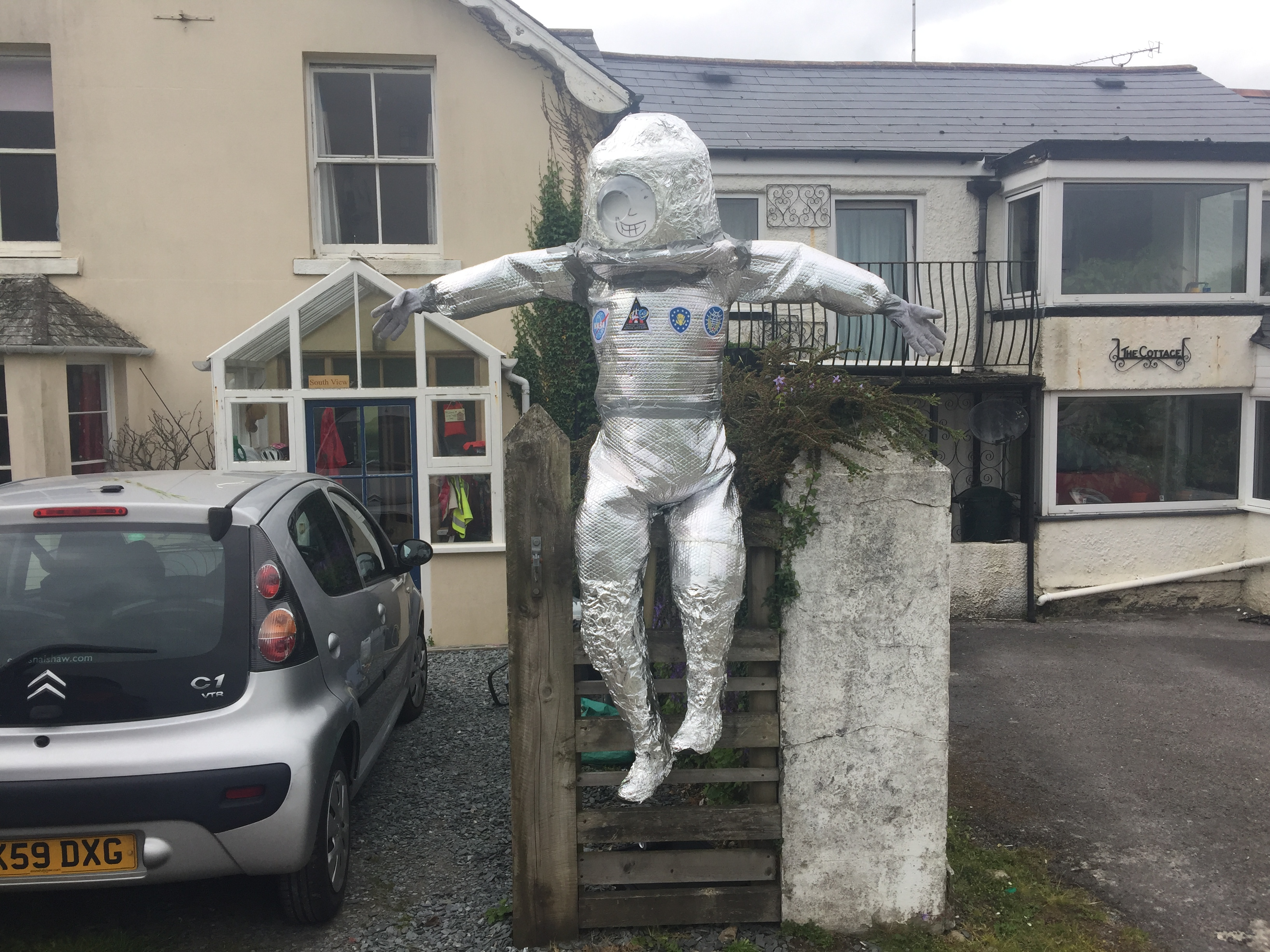 Scarecrow at Clearbrook Village Hall