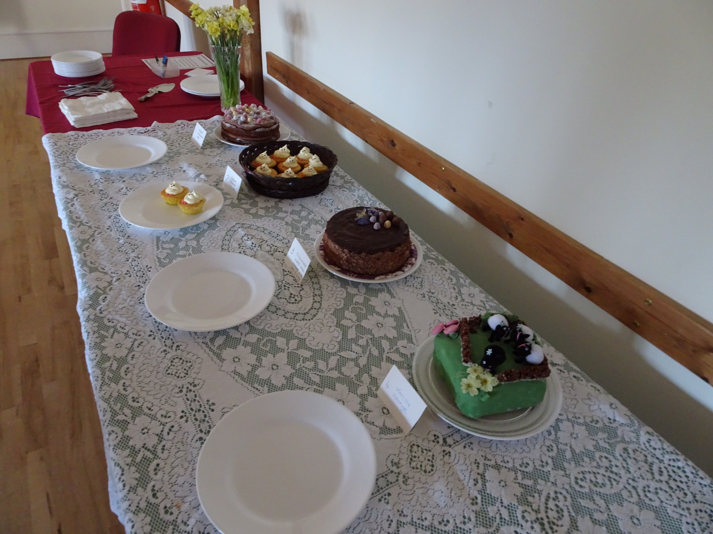 Bake off at Clearbrook Village Hall