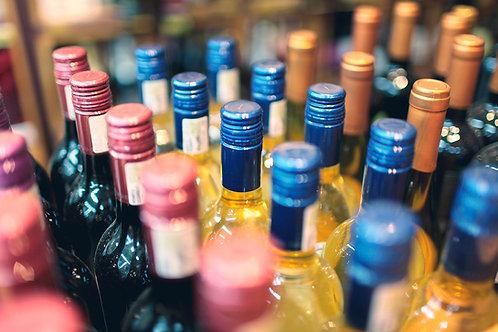 Bouteille de vin (Rouge, Blanc ou Rosé) 75cl